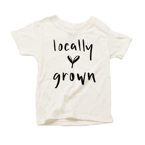 Locally Grown Organic Cream Triblend Infant Short Sleeve Tee