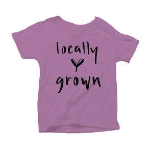 Locally Grown Organic Purple Triblend Infant Short Sleeve Tee