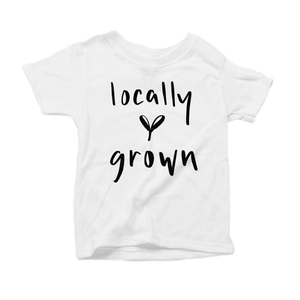 Locally Grown Organic White Triblend Infant Short Sleeve Tee