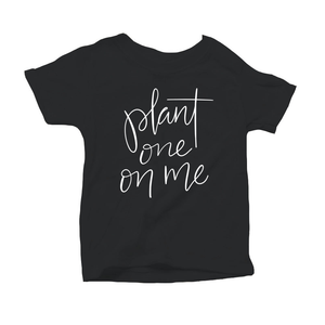 Plant One on Me Organic Black Triblend Infant Short Sleeve Tee
