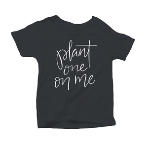 Plant One on Me Organic Charcoal Triblend Infant Short Sleeve Tee