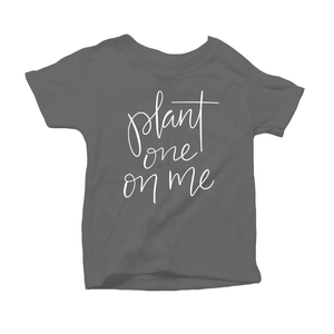 Plant One on Me Organic Grey Triblend Infant Short Sleeve Tee