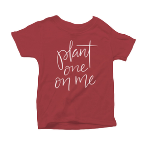 Plant One on Me Organic Red Triblend Infant Short Sleeve Tee