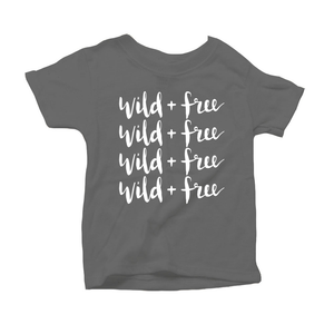 Wild and Free Organic Grey Triblend Infant Short Sleeve Tee