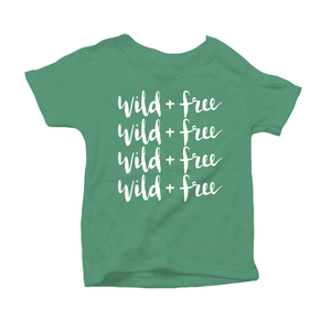 Wild and Free Organic Green Triblend Infant Short Sleeve Tee