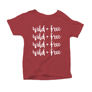 Wild and Free Organic Red Triblend Infant Short Sleeve Tee