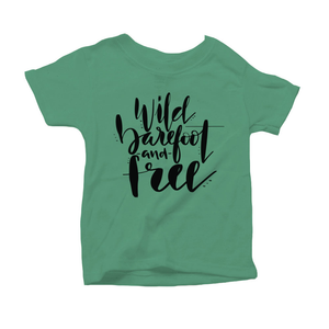 Wild, Barefoot and Free Organic Green Triblend Infant Short Sleeve Tee