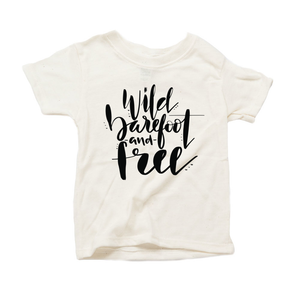 Wild, Barefoot and Free Organic Cream Triblend Infant Short Sleeve Tee
