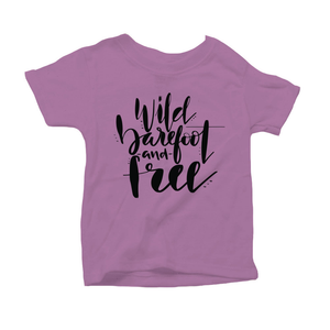 Wild, Barefoot and Free Organic Purple Triblend Infant Short Sleeve Tee