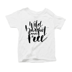 Wild, Barefoot and Free Organic White Triblend Infant Short Sleeve Tee