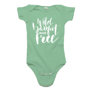 Wild, Barefoot and Free Green Organic Cotton Onesie
