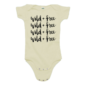 Wild and Free Cream Organic Cotton Onesie