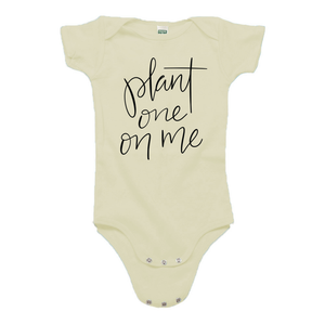 Plant One on Me Cream Organic Cotton Onesie