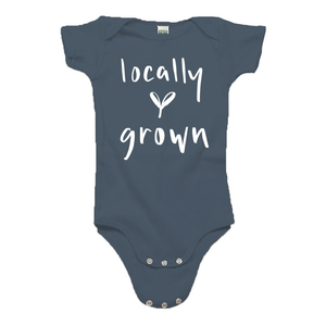 Locally Grown Ocean Blue Organic Cotton Onesie