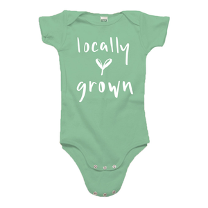 Locally Grown Green Organic Cotton Onesie