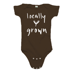 Locally Grown Brown Organic Cotton Onesie
