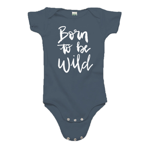 Born to be Wild Ocean Blue Organic Cotton Onesie