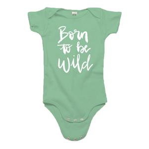Born to be Wild Green Organic Cotton Onesie