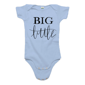 Big Little Baby Blue Organic Cotton Onesie