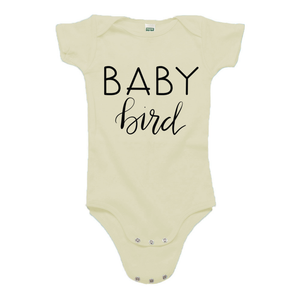 Baby Bird Cream Organic Cotton Onesie