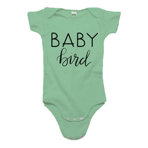 Baby Bird Green Organic Cotton Onesie
