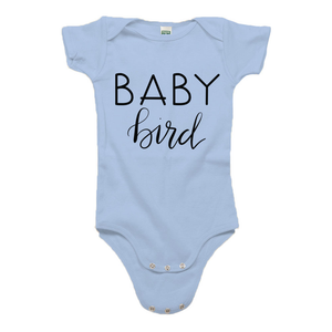 Baby Bird Baby Blue Organic Cotton Onesie