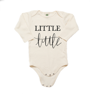 Little Little Organic Cotton Cream Long Sleeve Onesie