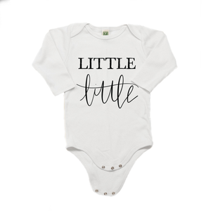 Little Little Organic Cotton White Long Sleeve Onesie