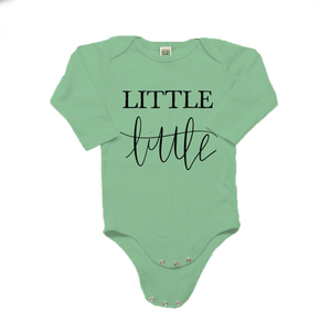 Little Little Organic Cotton Green Long Sleeve Onesie
