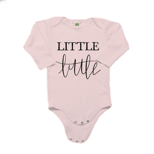 Little Little Organic Cotton Pink Long Sleeve Onesie