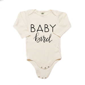 Baby Bird Organic Cotton Cream Long Sleeve Onesie