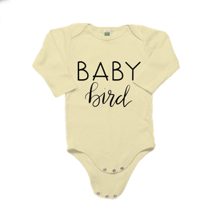 Baby Bird Organic Cotton Yellow Long Sleeve Onesie