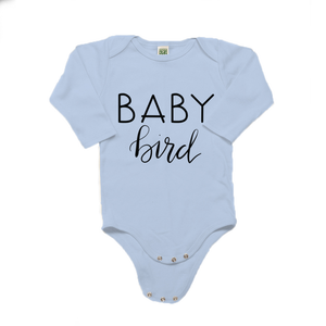 Baby Bird Organic Cotton Blue Long Sleeve Onesie
