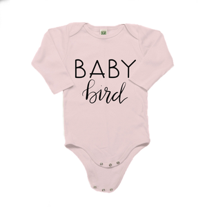 Baby Bird Organic Cotton Pink Long Sleeve Onesie