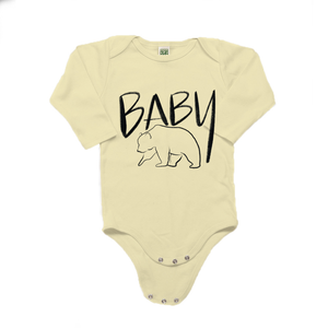 Baby Bear Organic Cotton Yellow Long Sleeve Onesie