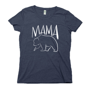 Mama Bear Organic Navy RPET Blend T-Shirt