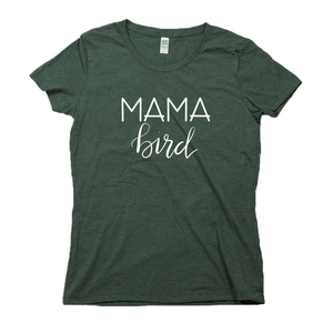 Mama Bird Organic Dark Green RPET Blend T-Shirt