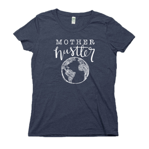 Mother Hustler Organic Navy RPET Blend T-Shirt