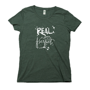 Real Not Perfect Organic Dark Green RPET Blend T-Shirt
