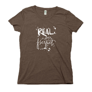 Real Not Perfect Organic Brown RPET Blend T-Shirt