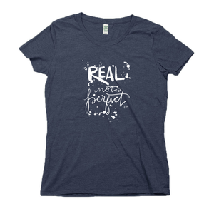 Real Not Perfect Organic Navy RPET Blend T-Shirt