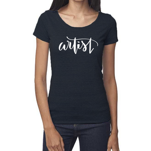 Artist Organic Navy Triblend Scoop T-Shirt