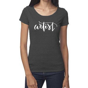 Artist Organic Charcoal Triblend Scoop T-Shirt