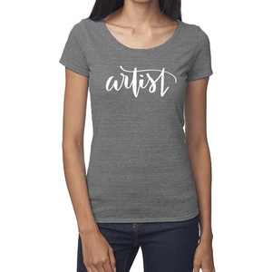 Artist Organic Grey Triblend Scoop T-Shirt
