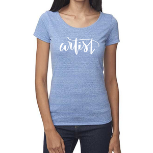 Artist Organic Baby Blue Triblend Scoop T-Shirt