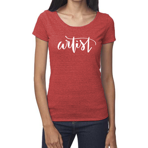 Artist Organic Red Triblend Scoop T-Shirt