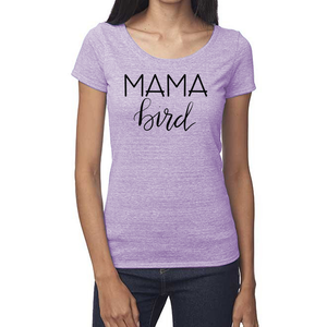 Mama Bird Organic Purple Triblend Scoop T- Shirt
