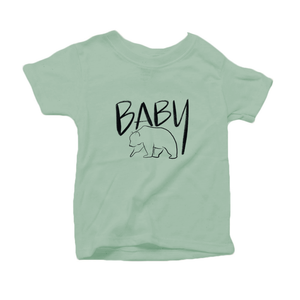Baby Bear Organic Cotton Toddler Short Sleeve Green Crew Tee