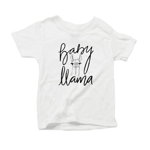Baby Llama Organic Cotton Toddler Short Sleeve Crew Tee