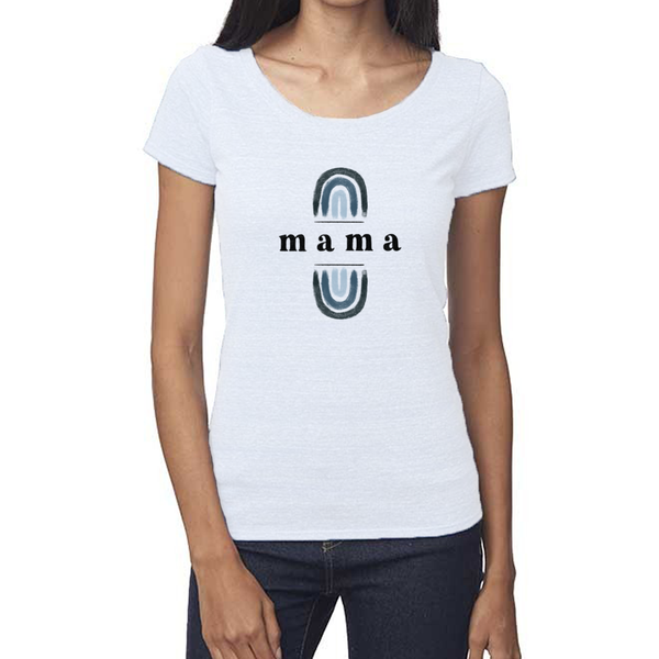 rainbow mama hemp v neck t shirt